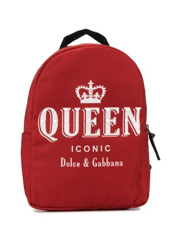 Dolce & Gabbana Kids Teen Queen Print Backpack - X0860 Print