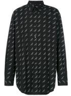 Balenciaga Normal Fit Shirt - Black