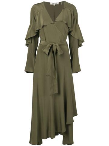 Dvf Diane Von Furstenberg Alice Wrap Dress - Green