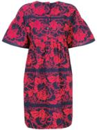 Odeeh Patterned Oversized Dress - Red