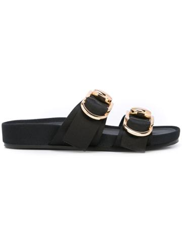 Stella Luna D-ring Slippers - Black