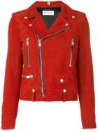 Saint Laurent Classic Motorcycle Jacket - Red