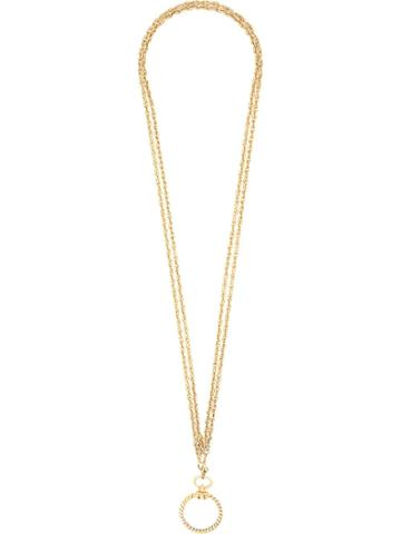 Chanel Pre-owned Circle Pendant Necklace - Gold