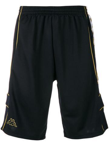 Kappa Logo Track Shorts - Black