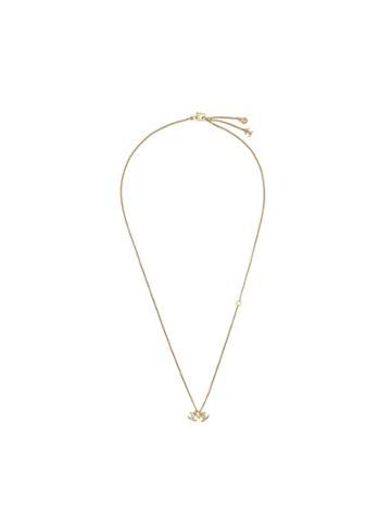 Chanel Vintage Double Interlocking Logo Necklace - Metallic