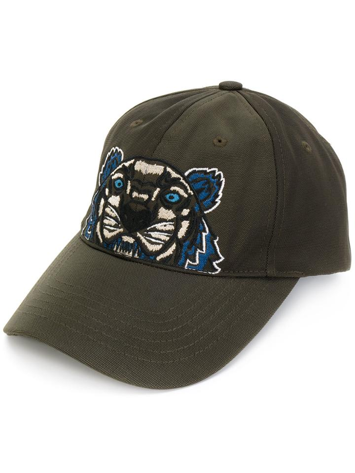 Kenzo Tiger Embroidered Cap - Green