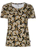 Moschino Metallic Bear Print Dress - Black