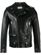 Saint Laurent Classic Ysl Motorcycle Jacket - Black