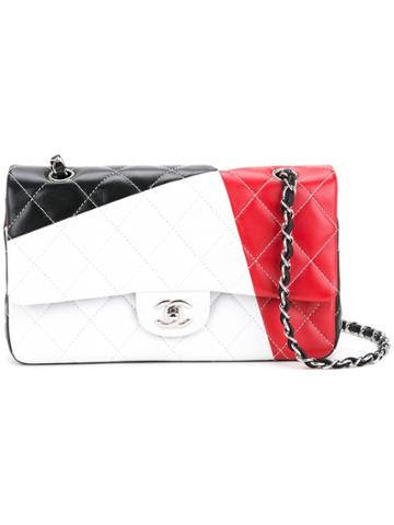 Chanel Pre-owned Quilted Shoulder Bag - White