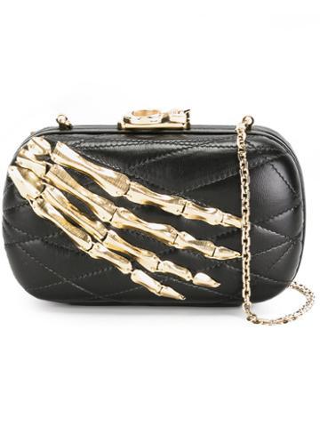 Corto Moltedo Susan C Star Clutch Bag, Women's, Black, Nappa Leather/brass/silk Satin