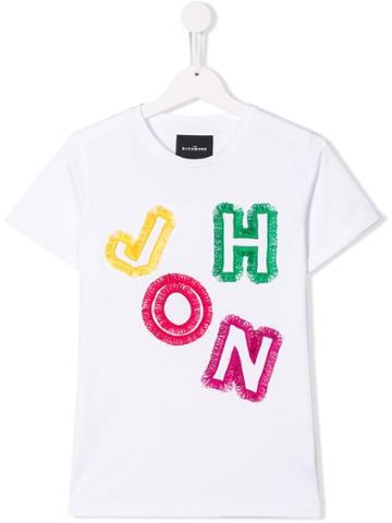 John Richmond Junior Teen Embroidered T-shirt - White