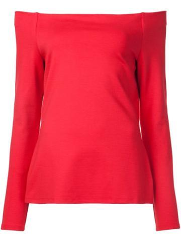 L'agence Off-shoulders Longsleeved Blouse