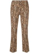 Pt01 Leopard Printed Trousers - Brown