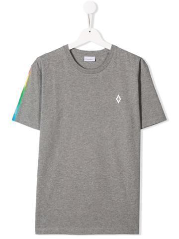 Marcelo Burlon County Of Milan Kids Rainbow Gradient T-shirt - Grey