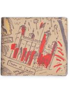 Burberry London Print Leather International Bifold Wallet -