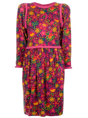 Yves Saint Laurent Vintage Floral Print Dress