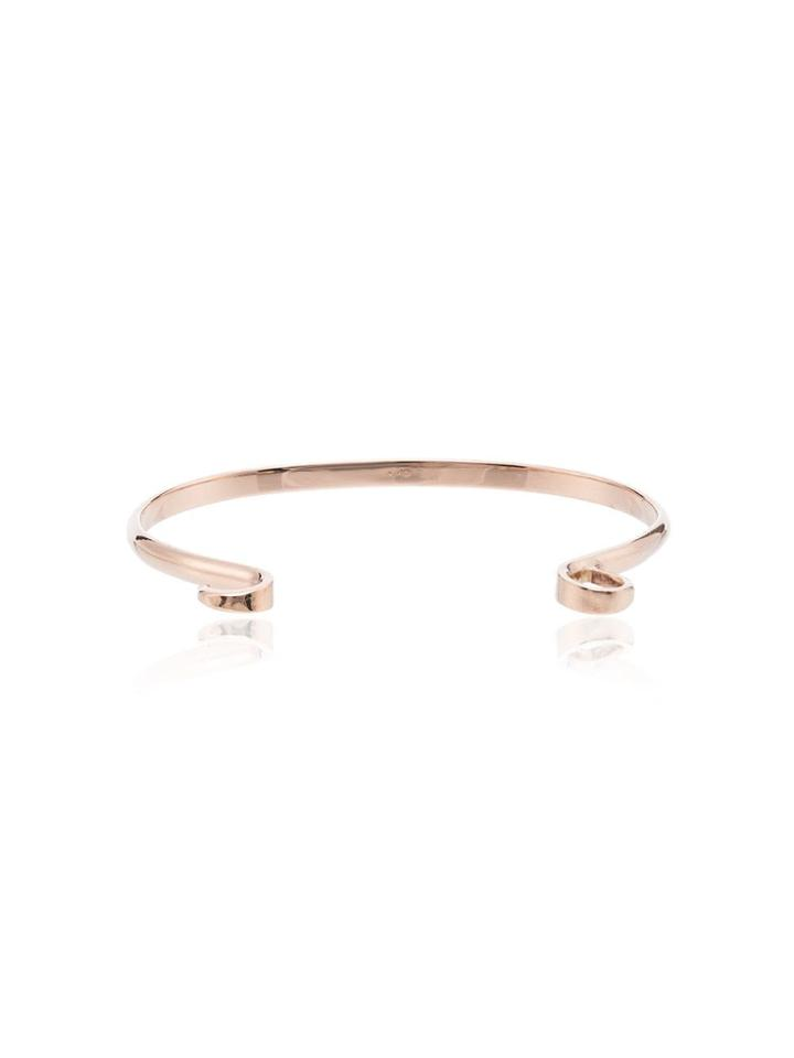 Marla Aaron Hard Hook Bracelet - Metallic