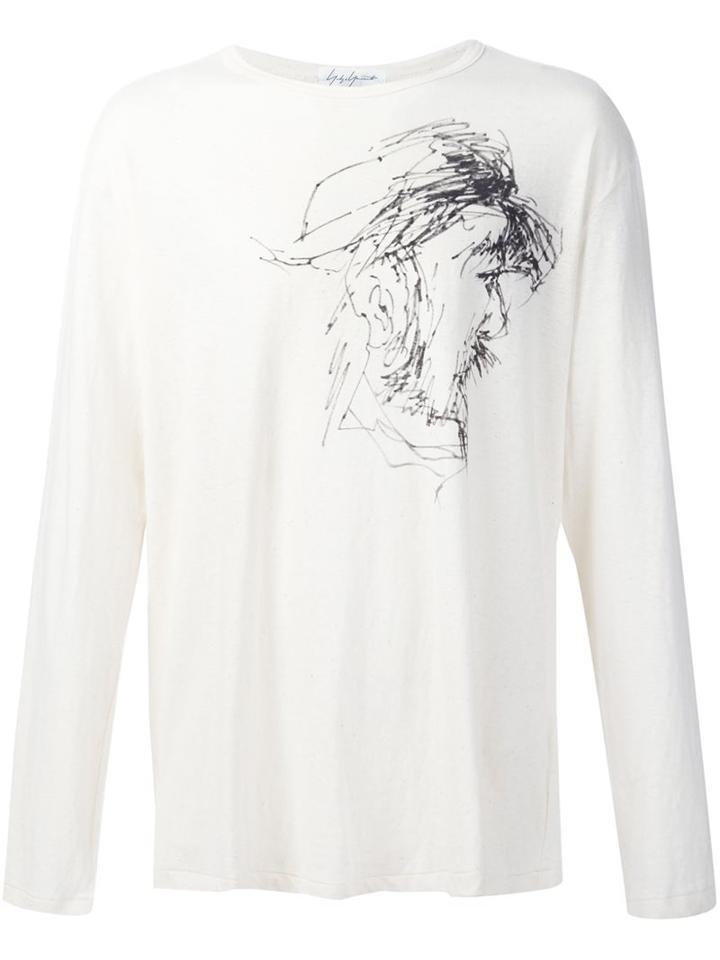 Yohji Yamamoto Drawing Print Sweatshirt