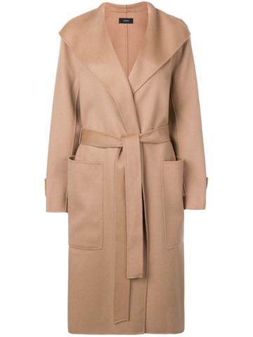 Joseph Belted Robe Coat - Neutrals