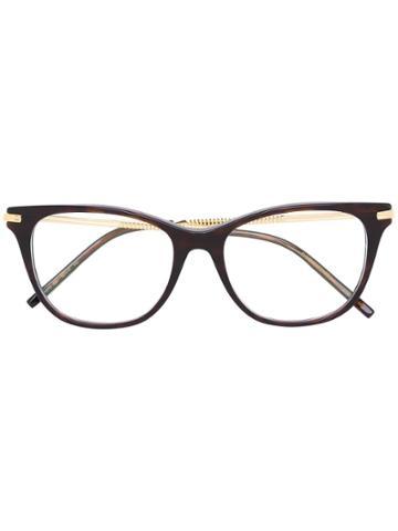 Boucheron Square Frame Glasses - Brown