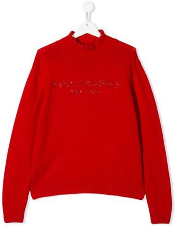 Philosophy Di Lorenzo Serafini Kids Teen Embellished Logo Sweater -