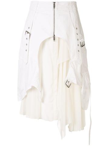 Iceberg Layered Midi Skirt - White