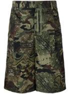 Givenchy Camouflage Print Bermuda Shorts - Green