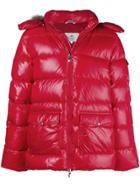 Pyrenex Fur Trim Hood Padded Jacket - Red