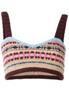 Valentino Knitted Bralet - Multicolour