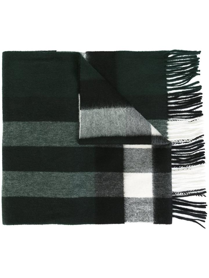 Burberry Plaid Fringed Scarf