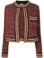 M Missoni Cropped Tweed Jacket - Black