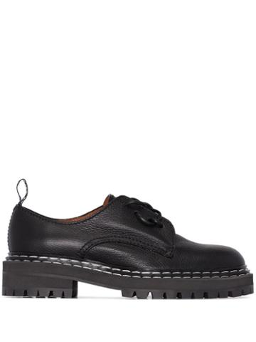 Proenza Schouler Leather Oxfords - Black