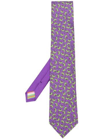 Etro Lizard-print Tie - Purple