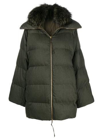 Agnona Puffer Coat - Green