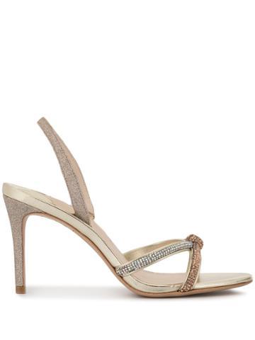 Sophia Webster Giovanna Crystal-embellished Sandals - Gold