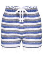 Lemlem Striped Drawstring Shorts - Blue