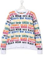 Msgm Kids Teen Colour Intarsia Sweatshirt - White