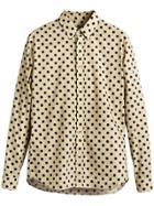 Burberry Polka-dot Cotton Shirt - Nude & Neutrals