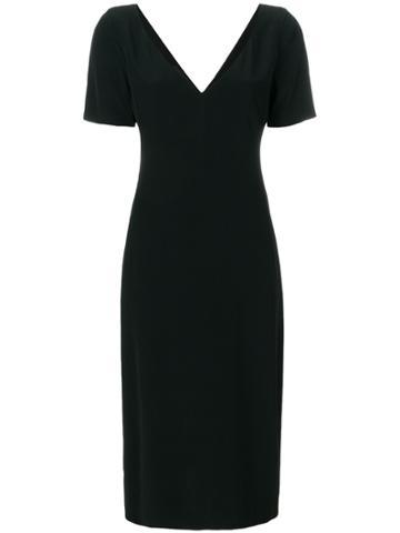 Prada Vintage V-neck Dress - Black