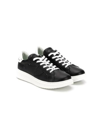 Philippe Model Kids Teen Studded Leather Sneakers - Black