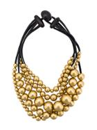 Monies Oversized Beads Necklace - Black