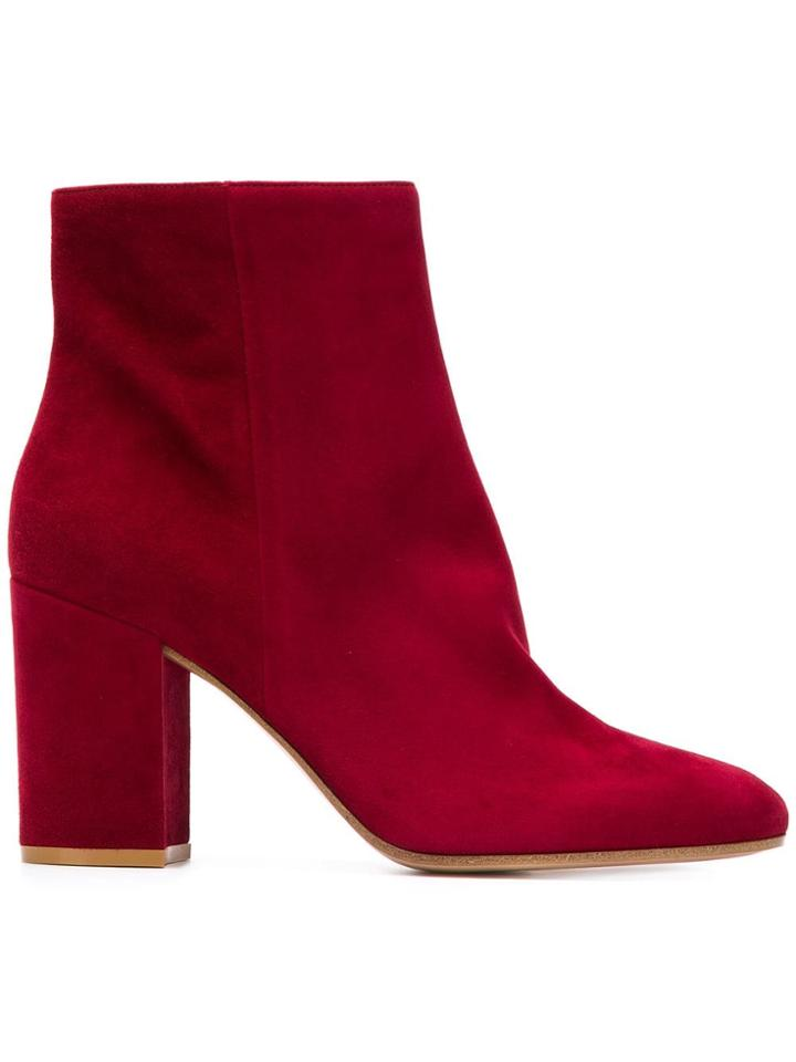 Gianvito Rossi Ankle Boots - Red