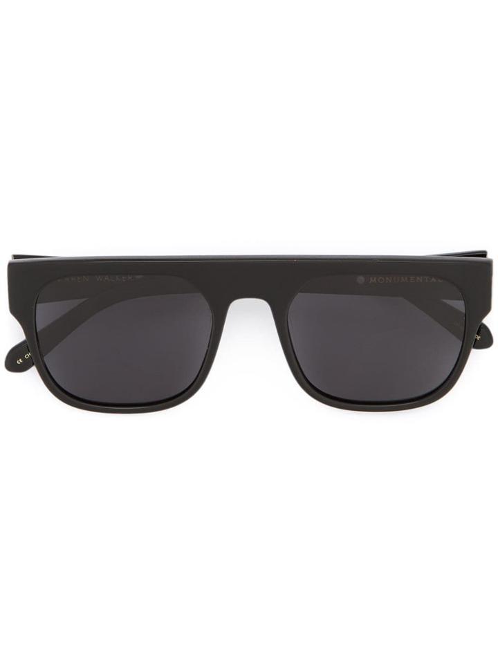 Karen Walker Burroughs Sunglasses - Black