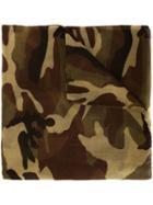 Saint Laurent Camouflage Scarf