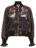 Sacai Patch Embroidered Bomber