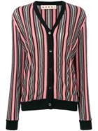 Marni Long-sleeved Striped Cardigan - Pink & Purple