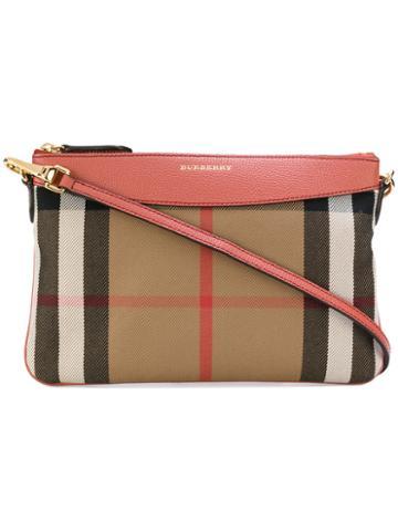 Burberry - Peyton Clutch - Women - Cotton/leather/polyamide - One Size, Red, Cotton/leather/polyamide