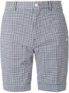 Loveless Checked Print Tailored Shorts, Men's, Size: 1, Black, Cotton/polyester