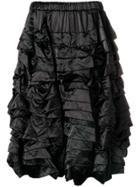 Comme Des Garçons Comme Des Garçons Tiered Ruched Shorts - Black