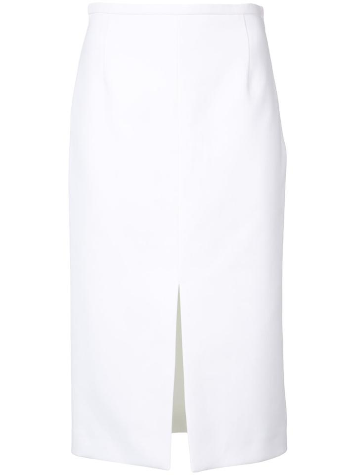 Michael Kors - Split Pencil Skirt - Women - Cotton - 4, White, Cotton
